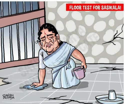 Sasikala cartoon