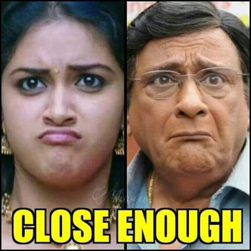 Keerthi suresh funny expression