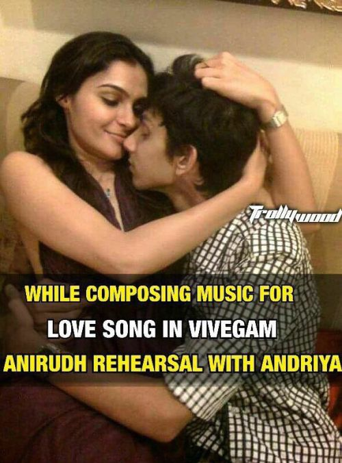 Suchitra released Anirudh Andrea new picture and video