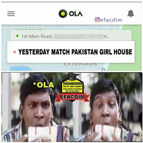 Yesterday match Pakistan girl house memes