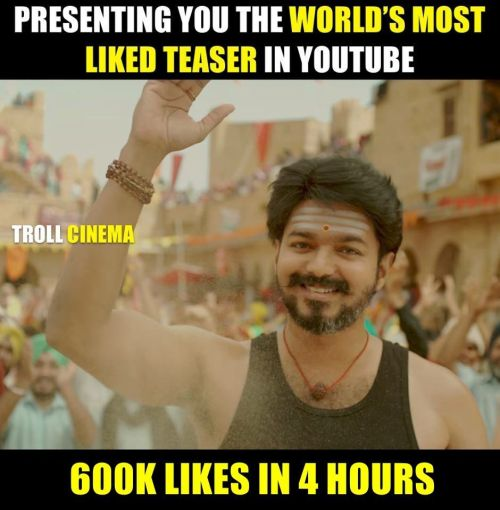 Mersal YouTube record memes