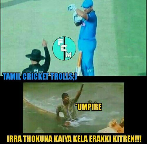 Ms dhoni asking DRS before umpire's cal