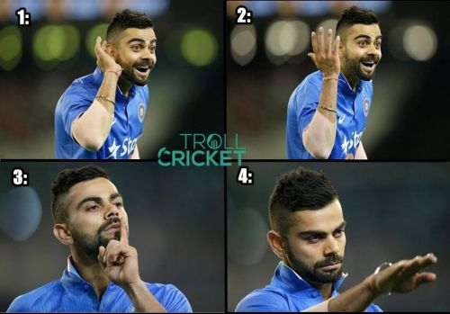 Virat kohli expressions and actions against australia