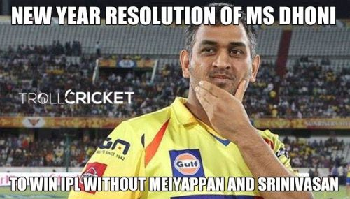 MS Dhoni new year resolution memes