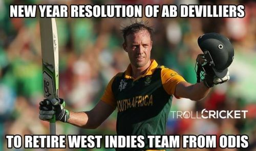 AB Devilliers new year resolution memes