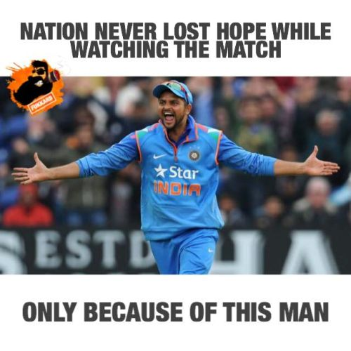 Suresh raina is the finisher of T20