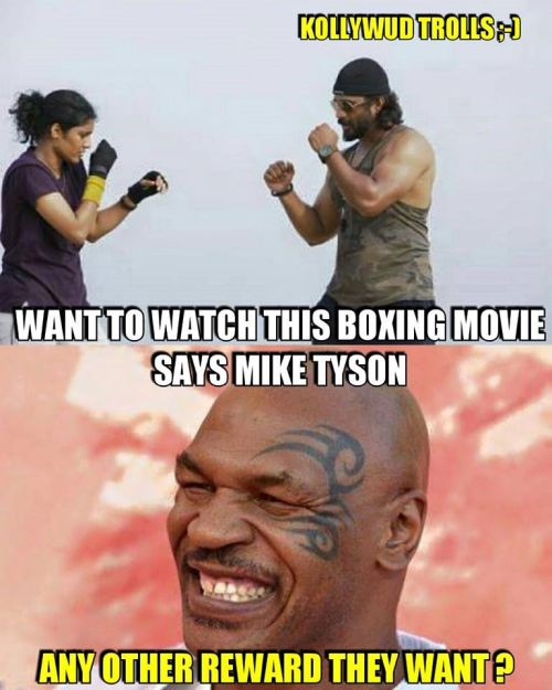 Mike tyson about irudhi suttru movie