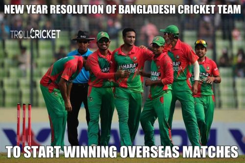 Bangladesh cricket team new year resolution meme